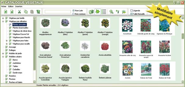 Jardicad logiciel de plans pour paysagistes et collectivit s for Achat vegetaux